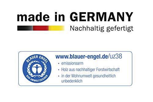 Spiegelschrank Kleiderschrank Schwebetürenschrank in Eiche hell mit Spiegel 2-türig  BxHxT 136x197x61 cm -