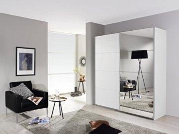 Spiegelschrank Kleiderschrank Schwebetürenschrank in Weiß mit Spiegel 2-türig