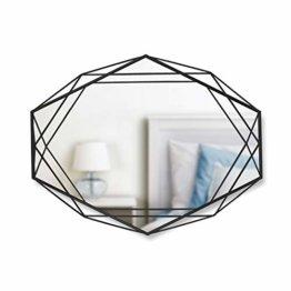 Design Luxus Wandspiegel Dekorativer Spiegel aussergewöhnlich und edel Metall Schwarz