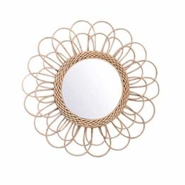 Wandbehang Spiegel Rattan Sonnenblumen Rund Wand Spiegel Dekor Boho Weidenkorb Verband Makeup Spiegel