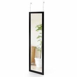 Wandspiegel 33x119cm Spiegel unbrechbarer Garderobenspiegel Flurspiegel Hängespiegel mit Haken Schwarz
