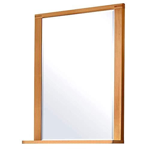 Wandspiegel aus Kern-Buche mit Ablage hochwertiger Spiegel für Flur & Garderobe 74 x 93 x 15 cm