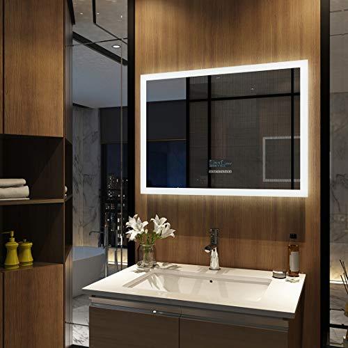 Wandspiegel Badezimmerspiegel LED Badspiegel mit Beleuchtung Touch Bluetooth Lautsprecher Lichtspiegel Dimmbar