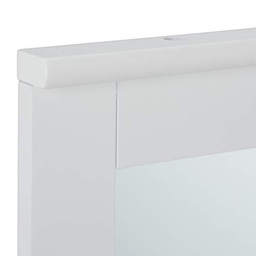 Wandspiegel mit Ablage Bad Wohnzimmer Flur eckig modern 42,5x40x13 cm Badezimmerspiegel weiß -