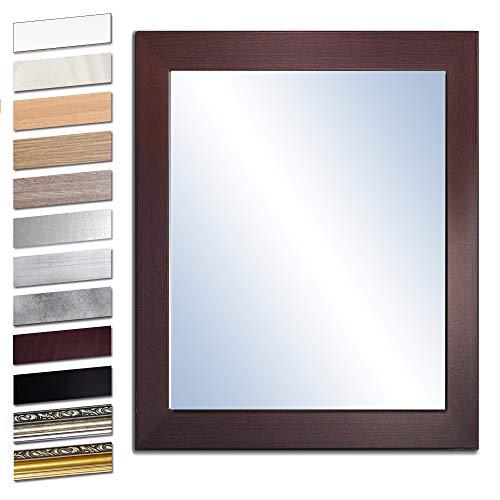 Wandspiegel Spiegel Badspiegel Holzrahmen komplett mit Echtglas WENGE 50x40 cm
