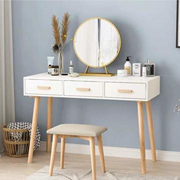 Schminkspiegel Runder Designspiegel Metallrahmen für Schlafzimmer, Badezimmer, Wohnzimmer