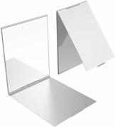YoungRich Travel Kleiner Spiegel Portable Klappspiegel Tasche Kosmetikspiegel Kompaktspiegel für Make-up Hair Styling Silber