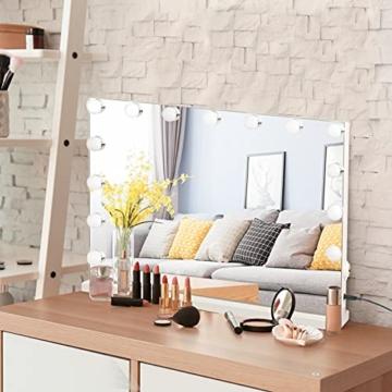 Hollywood Schminkspiegel mit Beleuchtung Dimmbar Kosmetikspiegel Spiegel Tischspiegel