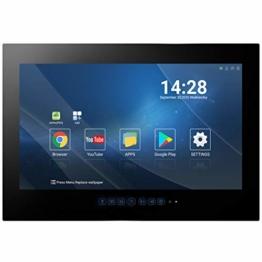 22 Zoll Badezimmer Fernseher Wasserdicht Smart Android TV Touchscreen Black Full HD LED 1080P Satelliten-Tuner Wi-Fi Bluetooth