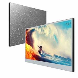 32 Zoll TV für Badezimmer Smart Spiegel TV IP66 wasserdicht mit Fernbedienung wasserfester Bad Fernsehr Smart Mirror