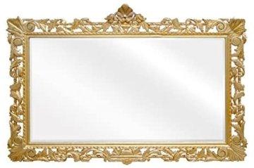 Barock Spiegel Gold Holzrahmen Handgefertigt Holzspiegel Barock Möbel 193 x 110 cm exklusivität