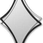 DekoArte Moderner dekorativer Wandspiegel Dekorationsspiegel für Salon Schlafzimmer Eingang Garderobe Groβer eleganter Spiegel rund silberfarben