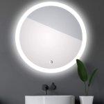 Talos Badspiegel mit Beleuchtung  Badezimmerspiegel Spiegel rund mit umlaufenden Raumlicht