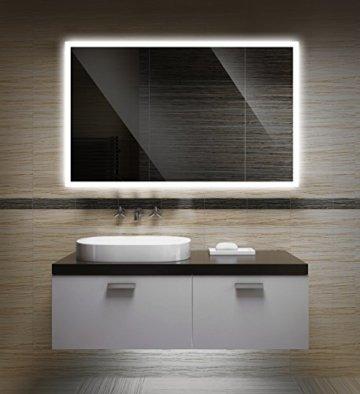 Badezimmerspiegel mit Beleuchtung LED Spiegel 65x50 cm Badspiegel mit Licht für Bad und Gäste WC