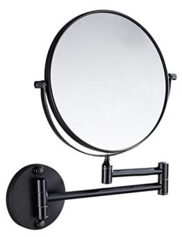 Badspiegel Schminkspiegel 360° drehbar doppelseitiger Spiegel normal mit Vergrößerung ausziehbar
