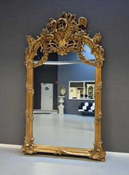 Barock Spiegel Goldener Gigantischer Hallenspiegel großer Wandspiegel XXL Palazzo Exklusives Design Luxuriös