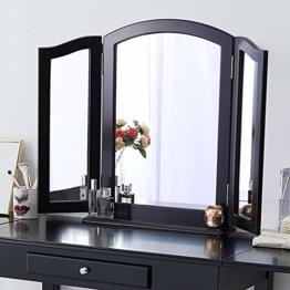 Faltbarer Dreifach Spiegel 3 teilig klappbarer Kosmetikspiegel für den Schminktisch Tischspiegel Wandspiegel groß 84cm x 62cm