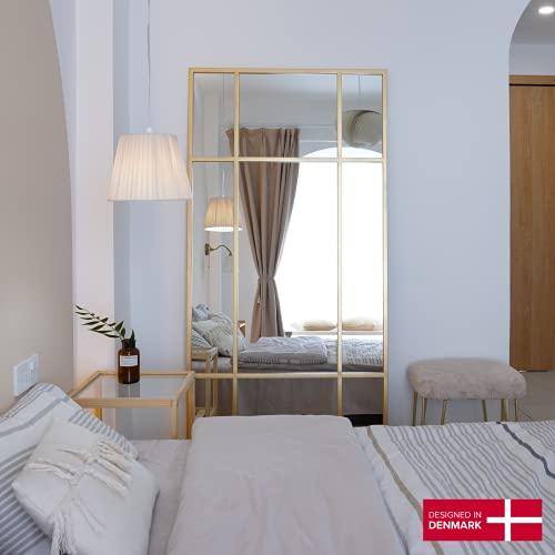 Ganzkörperspiegel Standspiegel Goldener Spiegel aus Metall Spiegel groß 220*110 Wandspiegel - Dänisches Design