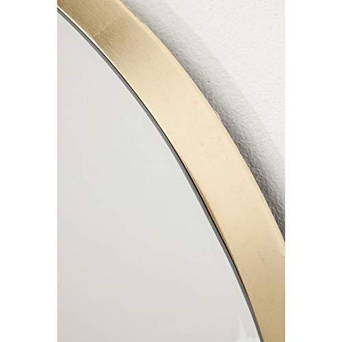 Großer Goldener Spiegel runder Wandspiegel Jetset Ø73 cm Bad Spiegel Design Schminkspiegel -