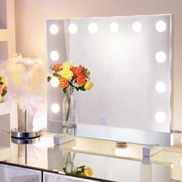 Hollywood LED Schminkspiegel Theaterspiegel Beleuchteter Kosmetikspiegel Standspiegel für Schminktisch