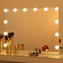 Hollywood Makeup Spiegel Dimmbarer LED-Lichtern Touch-Steuerung Kosmetikspiegel großer Theaterspiegel