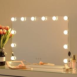 Hollywood Wandspiegel Kosmetikspiegel LED-Beleuchtung Schminktisch dimmbare Glühbirnen Weiß