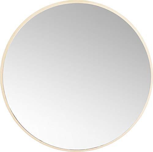 Großer Goldener Spiegel runder Wandspiegel Jetset Ø73 cm Bad Spiegel Design Schminkspiegel