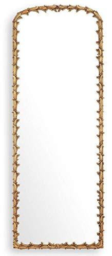 Luxus Spiegel Antik Gold großer Mahagoni Wandspiegel Ganzkörperspiegel Garderobenspiegel 92,5 x 245,5 cm