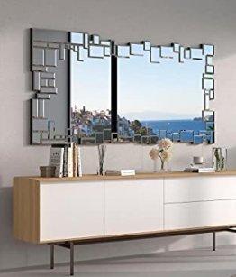Moderner dekorativer Wandspiegel für Salon, Schlafzimmer, Eingang, Garderobe| Groβer eleganter Spiegel 140 x 70 cm