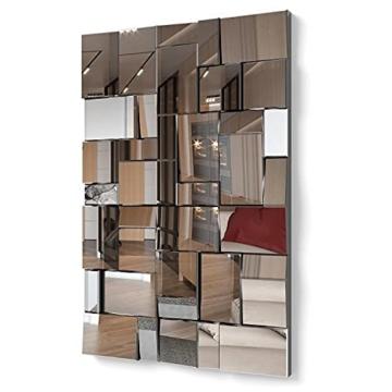 Moderner dekorativer Wandspiegel für Salon, Schlafzimmer, Eingang, Garderobe Groβer eleganter 3D Effekt 120 x 80 cm