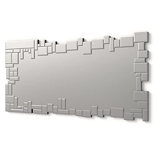 Moderner dekorativer Wandspiegel für Salon, Schlafzimmer, Eingang, Garderobe  Groβer eleganter Spiegel 140 x 70 cm