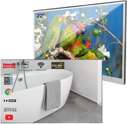 Smart TV Spiegel IP66 TV Wasserdicht für Badezimmer, Hotel mit Fernbedienung Modell 2019 Android Badspiegel