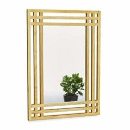 Spiegel Kiefernholz Wandspiegel fürs Bad großer Badezimmerspiegel Holzrahmen als Badspiegel natur 70 x 50 x 2 cm