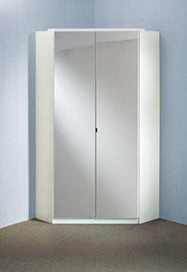 Spiegelschrank Kleiderschrank/ Eckschrank Schlafzimmer Spiegel Schrank 95 x 198 x 95 cm, Weiß