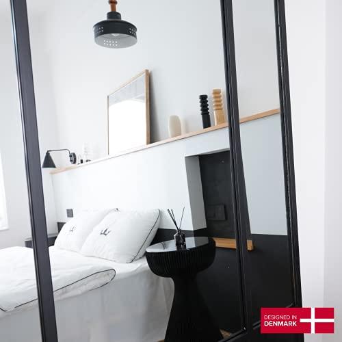 Standspiegel Ganzkörperspiegel Spiegel Schwarz aus Metall Spiegel groß H 180* B 90 Wandspiegel – Dänisches Design -