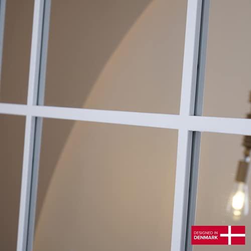Standspiegel – Ganzkörperspiegel Spiegel Weiß aus Metall – Spiegel groß 220*110 Wandspiegel Designed in Dänemark -
