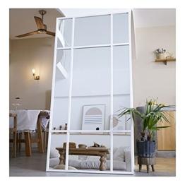 Standspiegel - Ganzkörperspiegel Spiegel Weiß aus Metall – Spiegel groß 220*110 Wandspiegel Designed in Dänemark