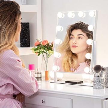 Tabletop Professionelle Schminkspiegel mit Licht, Beleuchteter Kosmetikspiegel LED-Lampen, Hollywood Spiegel Licht