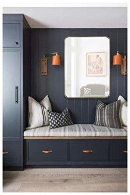 Wandspiegel Spiegel Gold aus Metallrahmen Rechteckiger H 76* B 56 Badspiegel Wanddekoration Wohn-/Schlafzimmer