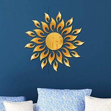 3D Sonnenblumenspiegel Wandaufkleber Runde Acryl Wohnzimmer Schlafzimmer TV Hintergrund Wandtattoos