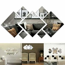 3D Spiegel Diamant Wandaufkleber DIY Aufkleber Home Room Art Wandbild Dekor Wandtattoo 3D Mirror Diamond