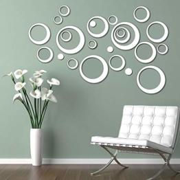 3D Spiegel Wandaufkleber Selbstklebend Acrylspiegel Wandsticker 24 Stück DIY Kristall Wandtattoos Dekorative Wandspiegel