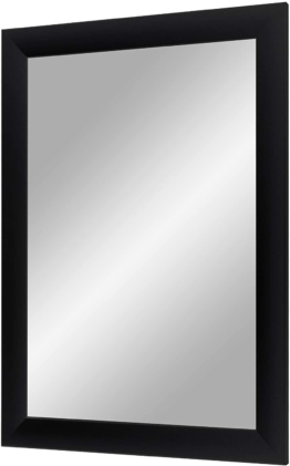 Wandspiegel mit Rahmen (Schwarz matt), Spiegel nach Maß mit breiter Holzleiste - Maßgefertigter Spiegelrahmen