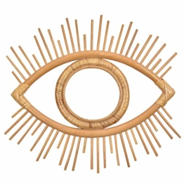 Augen Form Dekor Spiegel Rahmen Rattan Kunst Dekor Makeup Spiegel Badezimmer Wand Behang Handwerk