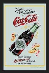 Coca Cola 5 Cents Barspiegel Bar Spiegel mit Siebdruck Motiv Werbespiegel Schild Dekoration 20x30 cm
