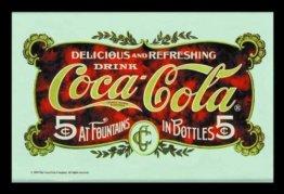Coca Cola Barspiegel Bar Spiegel Wandspiegel Bedruckter Spiegel Werbespiegel Werbeschild 30x20 cm