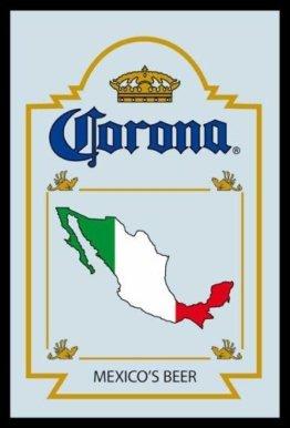 Corona Mexico Beer/Bier Barspiegel Bar Spiegel Wandspiegel mit Motiv Biermarke Sammlerstück 20x30 cm