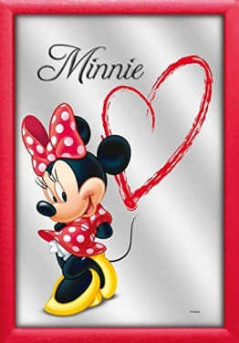 Disney Minnie Mouse Maus Herz Heart - Bedruckter Spiegel Wandspiegel Barspiegel 20x30 cm