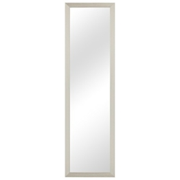 Flur & Garderobenspiegel Wandspiegel Frisierspiegel Flurspiegel Barspiegel 36,5x124,5cm Holzrahmen Weiss
