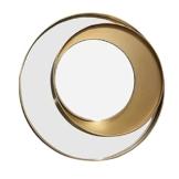 Goldener Luxus Design Wandspiegel Licht Kunst Kreativer Wanddekorationsspiegel Silberspiegel Flur Deko